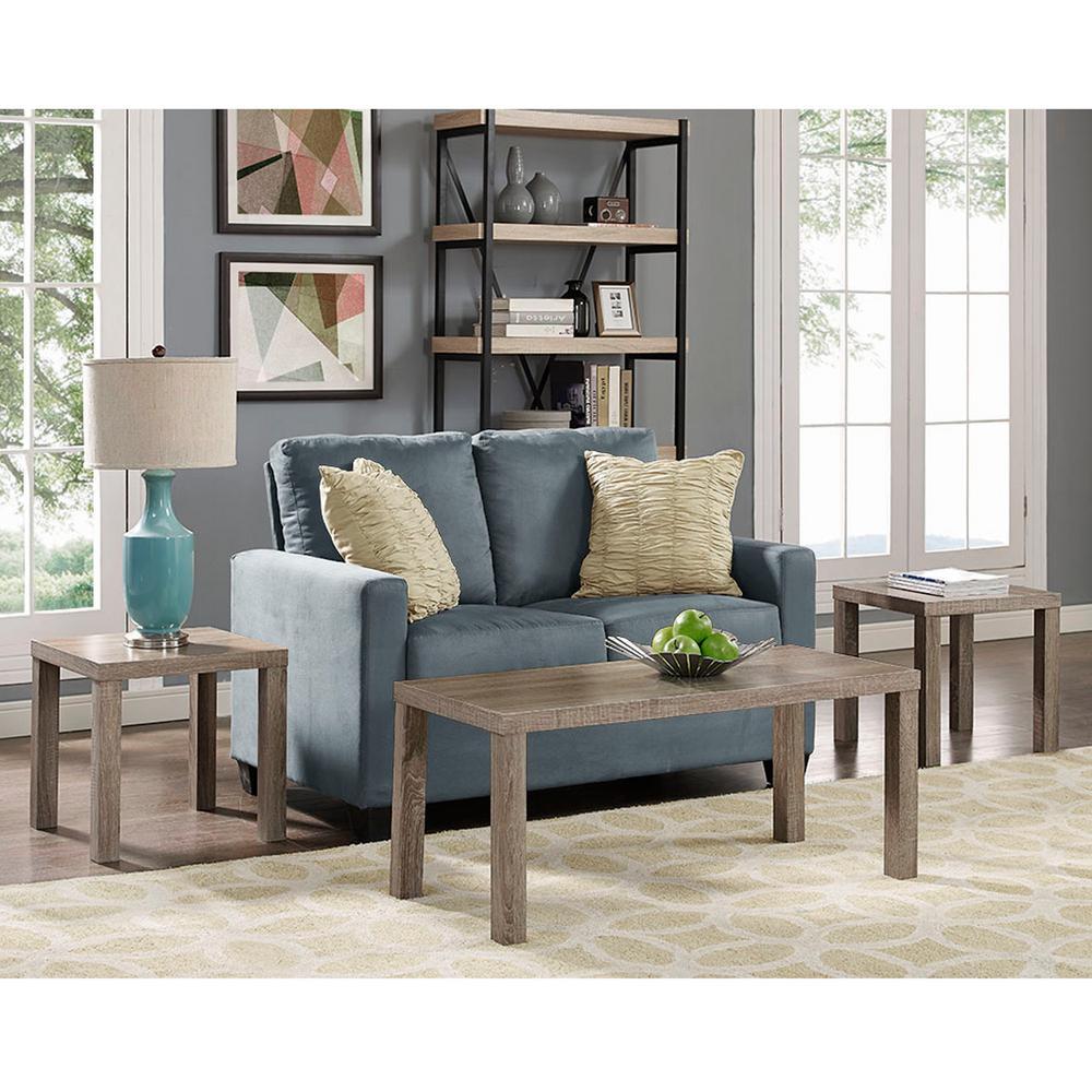 walker edison furniture company essential driftwood 3piece endside table set