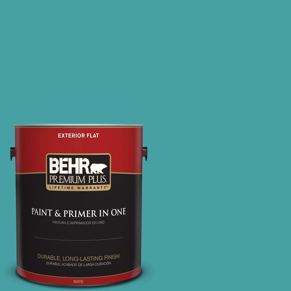 1-gal. #M460-5 Aqua Fresco Flat Exterior Paint