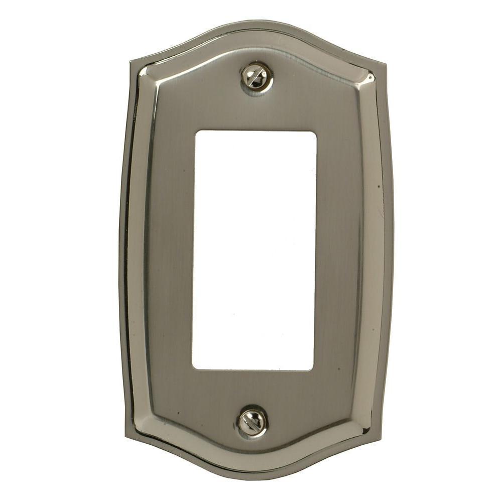 Elumina Decor Wall Plate Satin Nickel : Amerelle sonoma rocker decora wall plate satin nickel