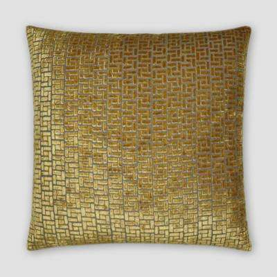 Jenga Gold Feather Down 18 in. x 18 in. Standard Decorative Throw Pillow