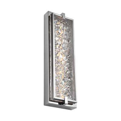 Erin 15-Watt Polished Stainless Steel Integrated LED Bath Light
