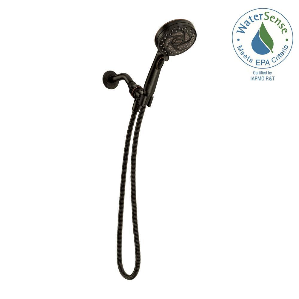 MOEN Propel 5-Spray 4.5 in. Hand Shower in Mediterranean Bronze ...