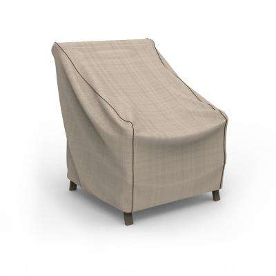 NeverWet Mojave Small Black Ivory Patio Chair Cover