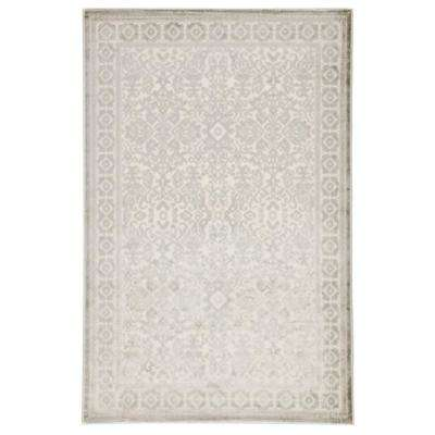Fables Silver 8 ft. 10 in. x 11 ft. 9 in. Damask Rectangle Rug