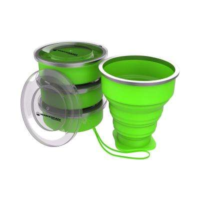 6 oz. Collapsible Travel Cups in Green (4-Pack)