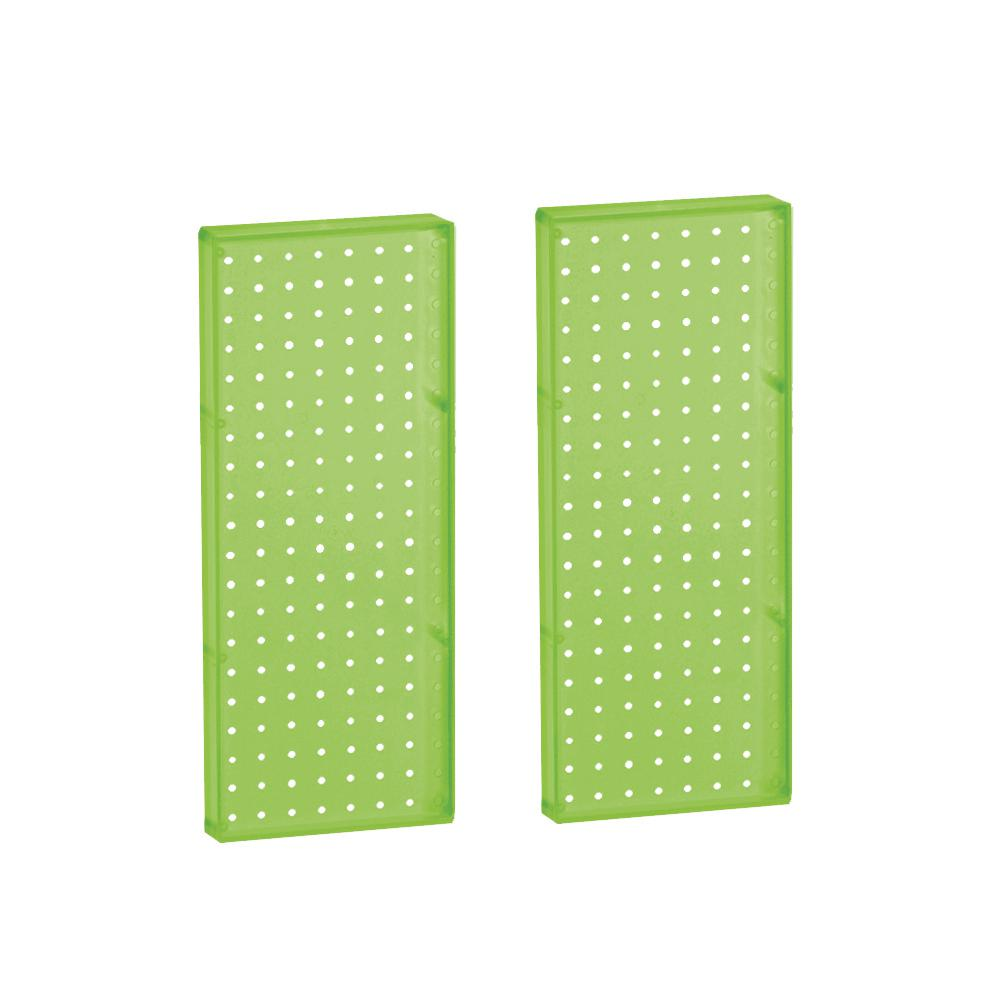 Azar Displays 20.625 in H x 8 in W Pegboard Green Styrene One Sided Panel (2-Pieces per Box)