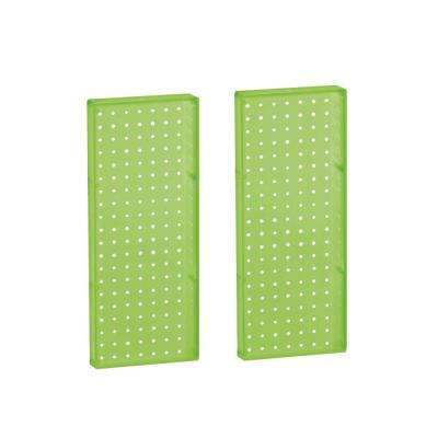 20.625 in H x 8 in W Pegboard Green Styrene One Sided Panel (2-Pieces per Box)