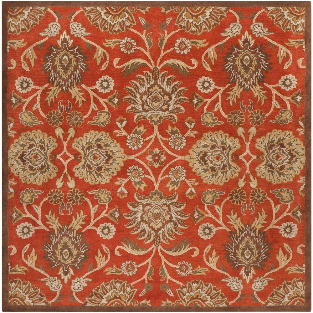 Cambrai Mocha (Brown) 4 ft. x 4 ft. Square Indoor Area Rug