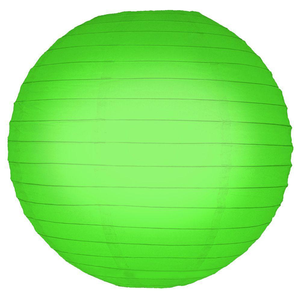 10 in. Round Green Paper Lanterns (5-Count)
