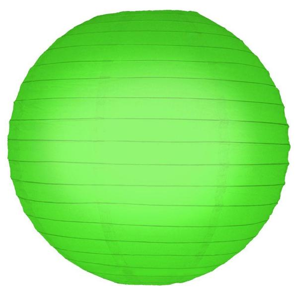 Lumabase 10 in. Round Green Paper Lanterns (5-Count) 78605