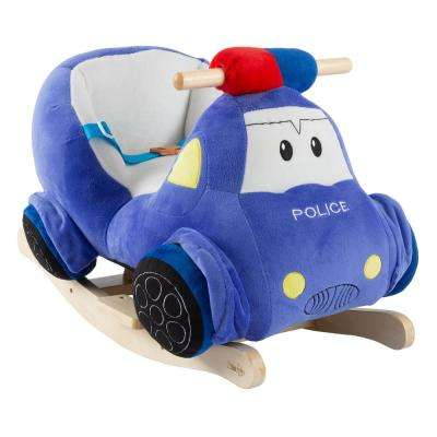 Kids Plush Rocking Police Car