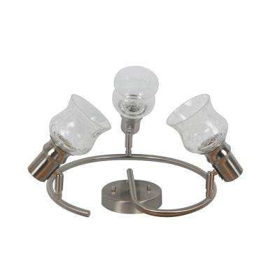 Vieste Collection 3-Lights Satin Nickel Track Lighting Mount