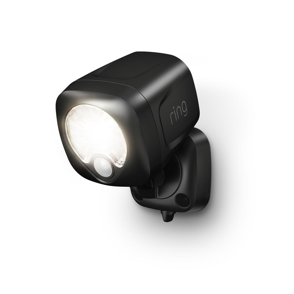 Ring Smart Lighting Black Motion Activated Outdoor Integrated Led Spotlight Battery
