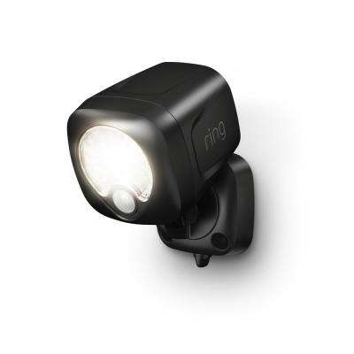 Smart Lighting Black Motion Activated Outdoor Integrated LED Spotlight Battery