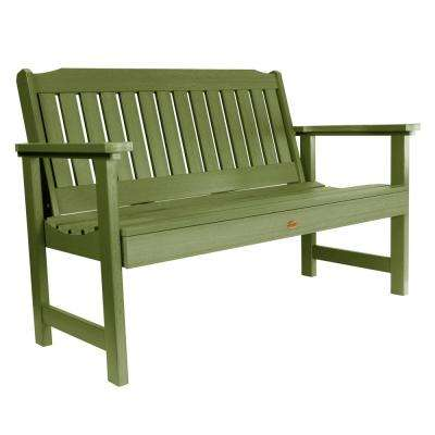 Lehigh 48 in. 2-Person Dried Sage Recycled Plastic Outdoor Garden Bench