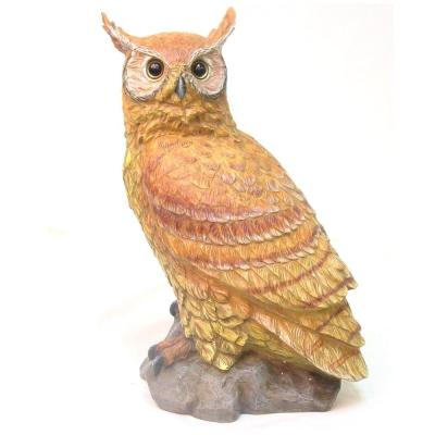 15-1/2 in. Large Owl on Perch Home and Garden Statue