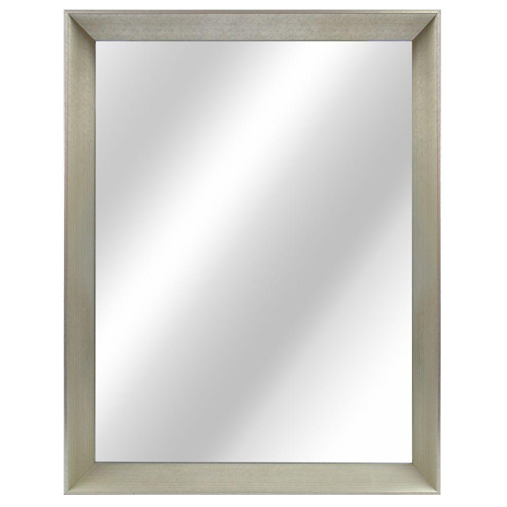 Home Decorators Collection 21 in. W x 29 in. L Framed Fog Free Wall Mirror in Champagne