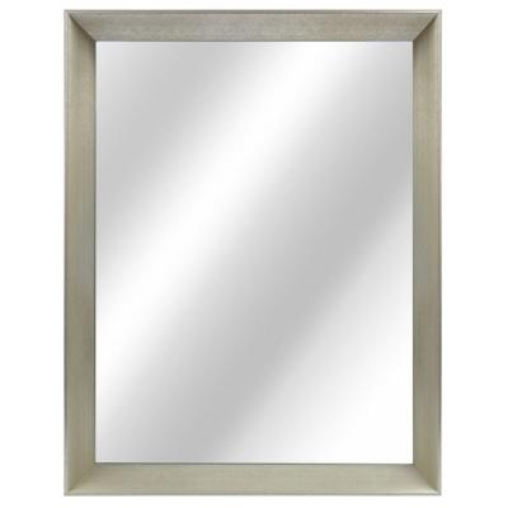 21 in. W x 28 in. H Framed Rectangular Anti-Fog Bathroom Vanity Mirror in Champagne finish