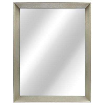 L Framed Fog Free Wall Mirror In Champagne