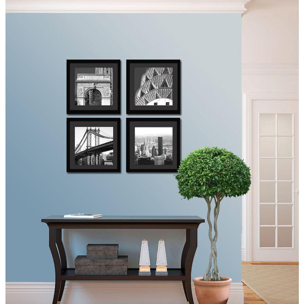 "Four 10 in. x 10 in. ""New York Scene"" by Neeva Kedem Framed Printed Wall Art"
