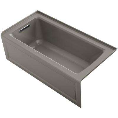 Archer 5 ft. Walk-In Whirlpool and Air Bath Tub in Cashmere
