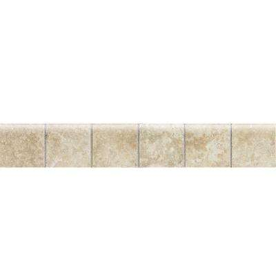Heathland Sunrise 2 in. x 12 in. Ceramic Mosaic Bullnose Floor and Wall Tile (0.17 sq. ft. / piece)