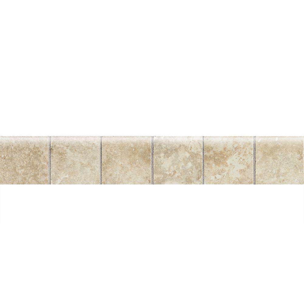 Daltile marissa crema marfil 12 in x 12 in ceramic floor and heathland sunrise 2 in x 12 in ceramic mosaic bullnose floor dailygadgetfo Image collections