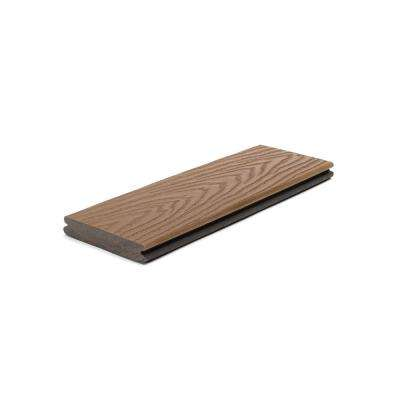 Select 1 in. x 5.5 in. x 1 ft. Saddle Composite Decking Board Sample