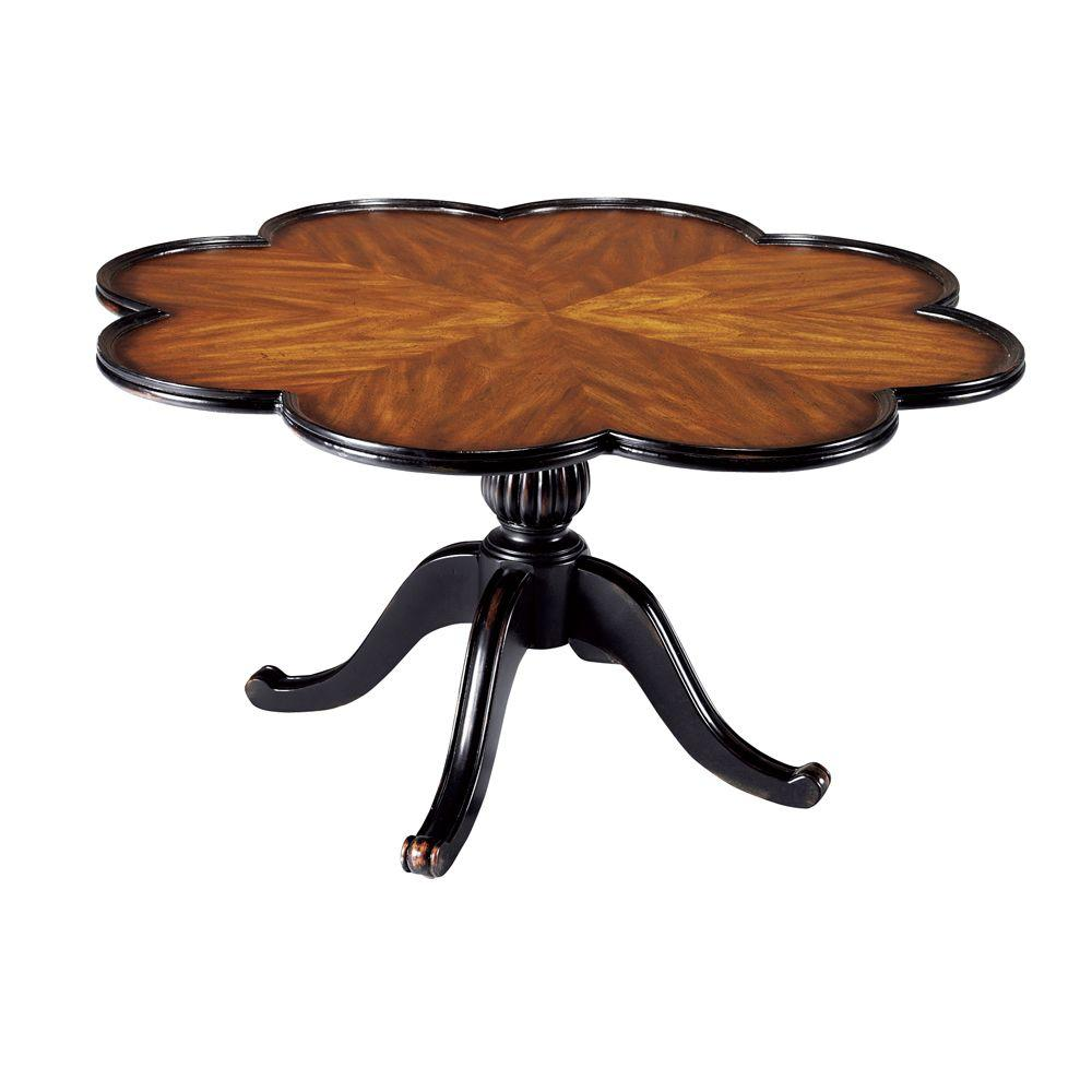 Home Decorators Collection Marais Cherry Scalloped Coffee Table