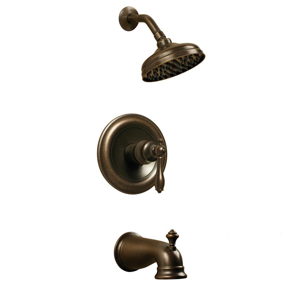 Glacier Bay Estates Single-Handle 1-Spray Tub and Shower Faucet in Heritage Bronze (Valve Included)