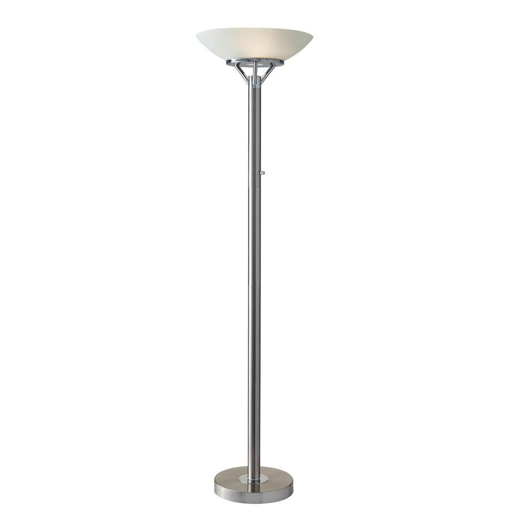 Adesso Expo 71 In Silver Floor Lamp 5023 22 The Home Depot