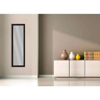 51.875 in. x 15.875 in. Espresso Framed Mirror