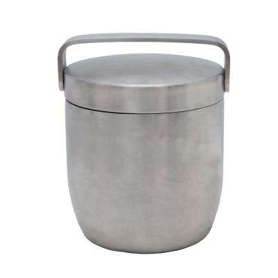 Apple 6.75 in. Stainless Steel Ice Bucket