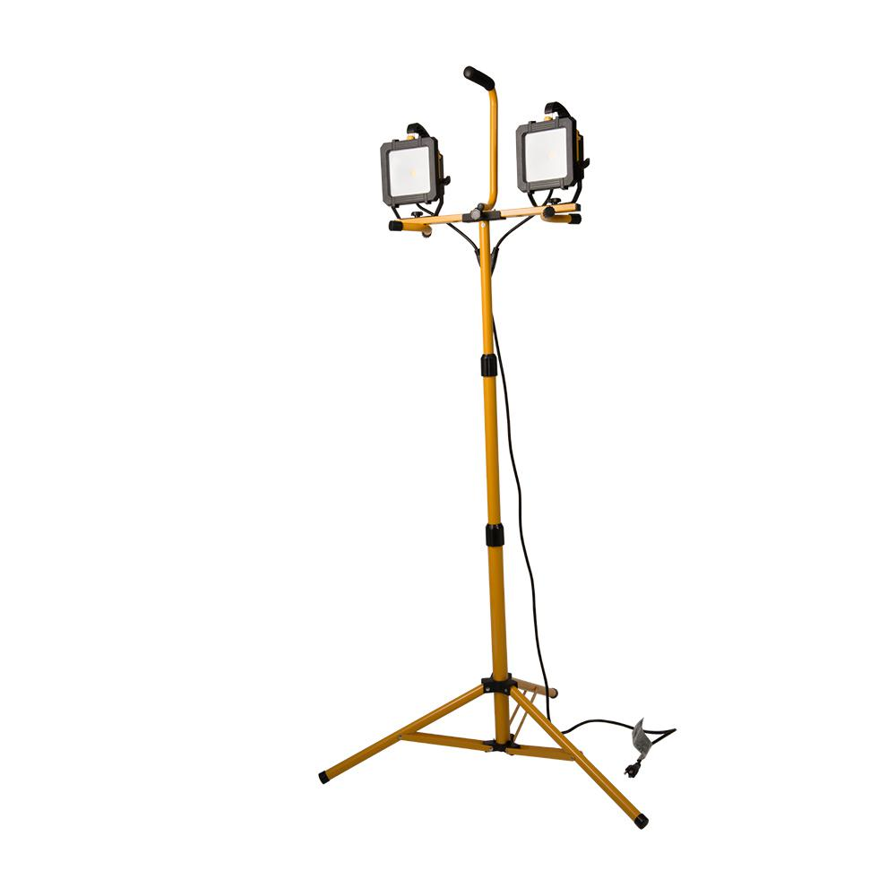 Stand Up Light: All-Pro 5000 Lumen 2 Head LED Stand Work Light-WLT5040LST
