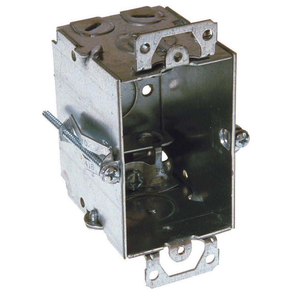 3 in. x 2 in. Gangable Switch Electrical Box, AC/MC, Flex Clamps-523 ...