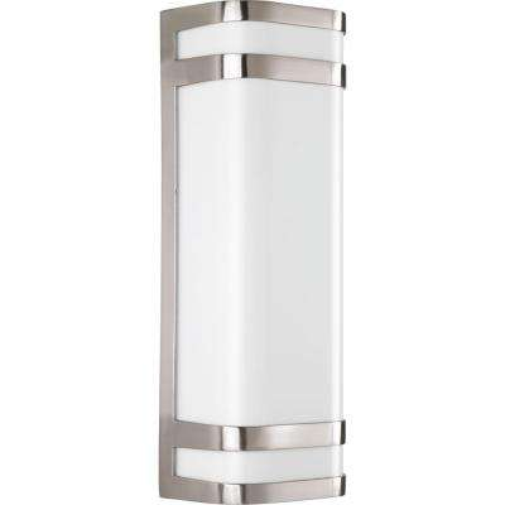 Valera 2-Light Outdoor Brushed Nickel Wall Lantern
