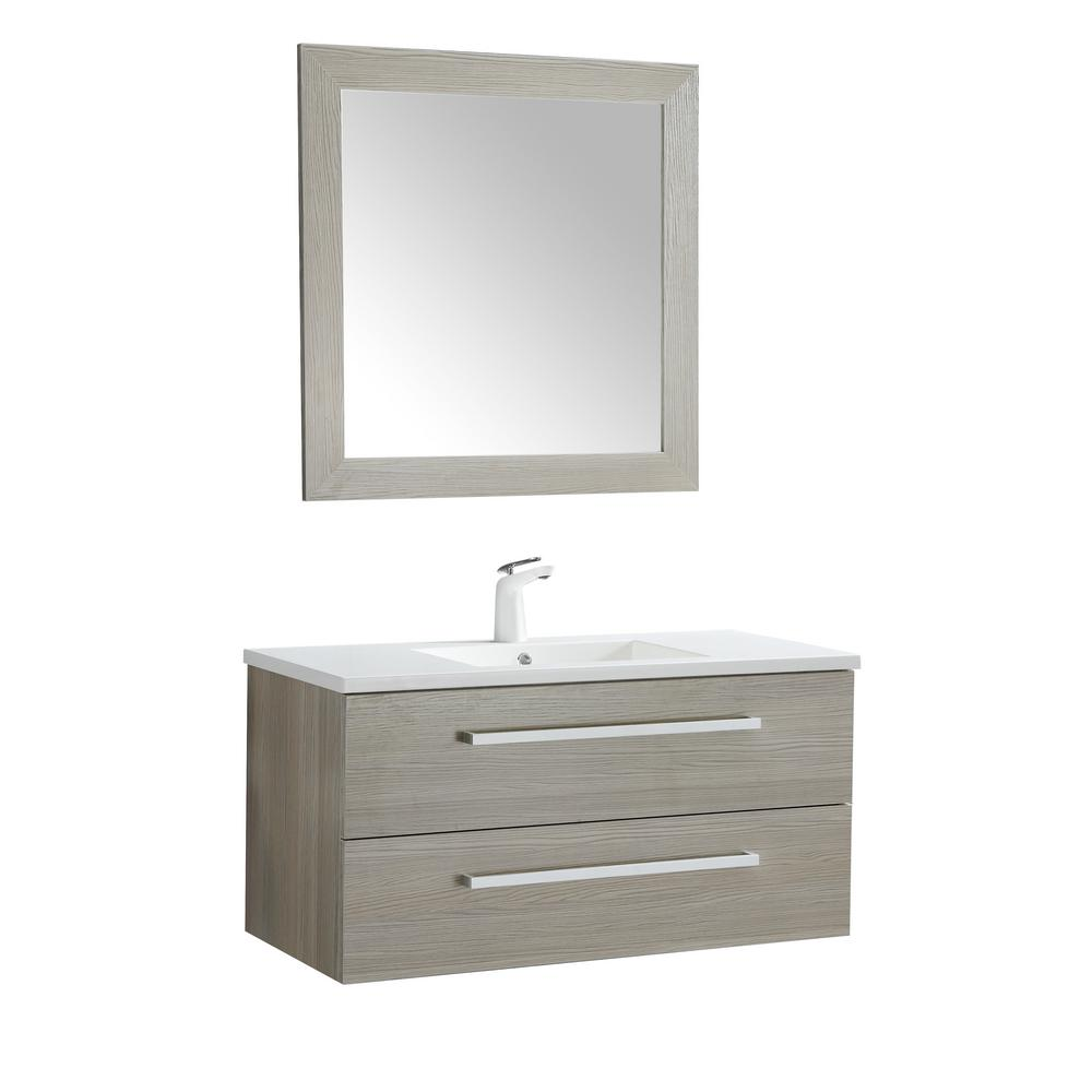 Conques 39 in. W x 20 in. H Bath Vanity in