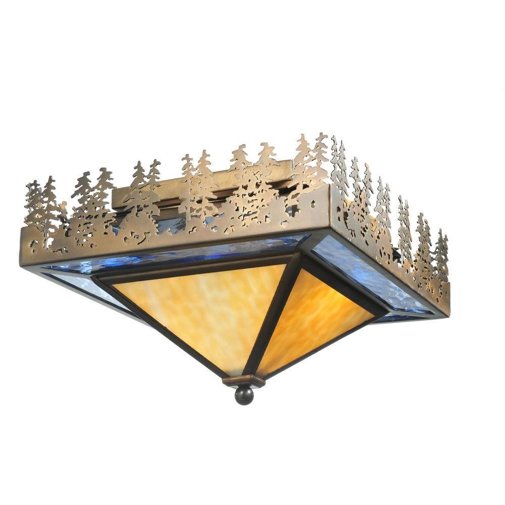 Illumine 2 Pine Lake Flushmount Antique Copper Finish