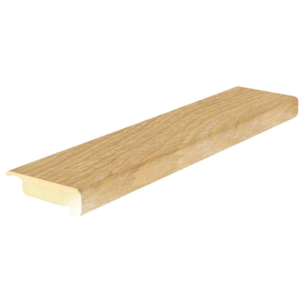 Mohawk Rustic Wheat Oak 4/5 In. Thick X 2 2/5 In. Wide X 78 7/10 In. Length  Laminate Stair Nose Molding MSNP 01491   The Home Depot