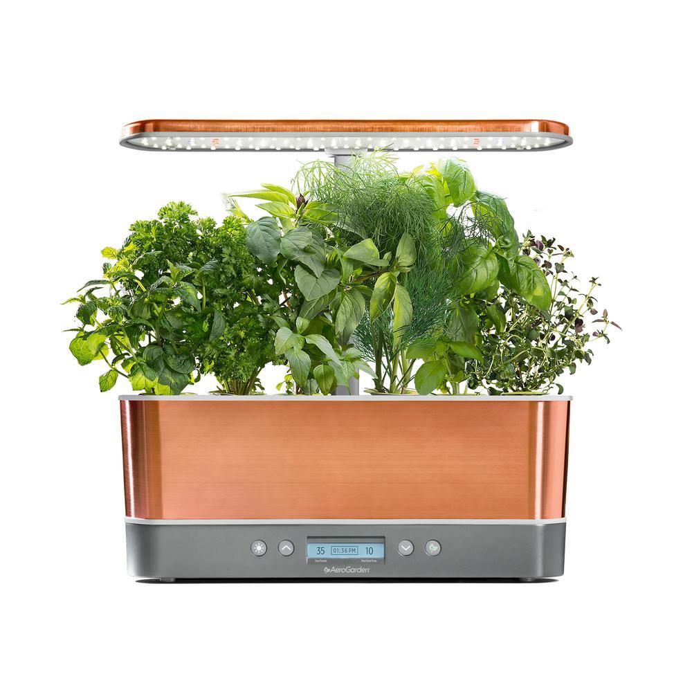 Harvest Elite Slim, Copper with Seed Starting System Bundle