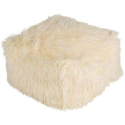 Westhrope White Accent Pouf