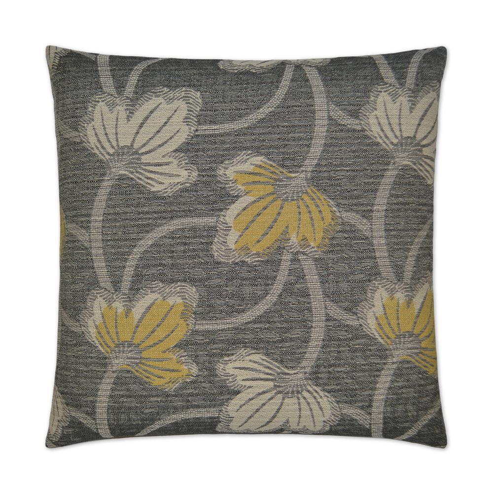 Tenuci Black Feather Down 24 in. x 24 in. Standard Decorative Throw Pillow