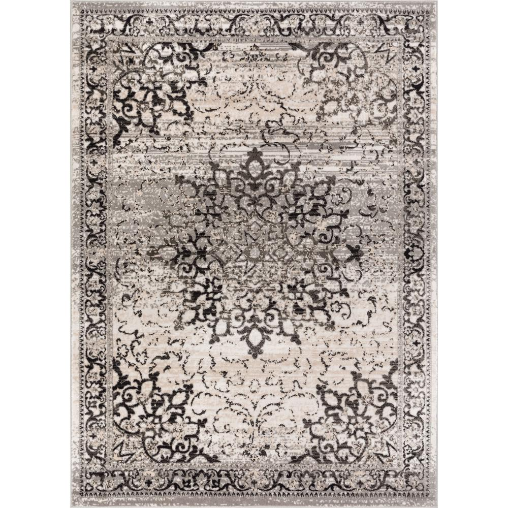 Well Woven New Age Sultana Grey 7 Ft 10 In X 9 Traditional Medallion Vintage Distressed Area Rug P Am 68 The Home Depot