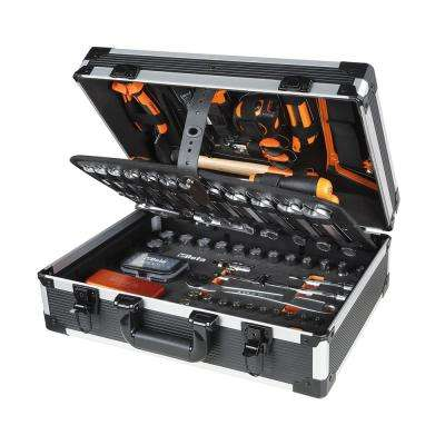 1/4 in. and 1/2 in. Drive Metric Socket Set with Ratchets and General Maintenance Tools in Case (146-Piece)