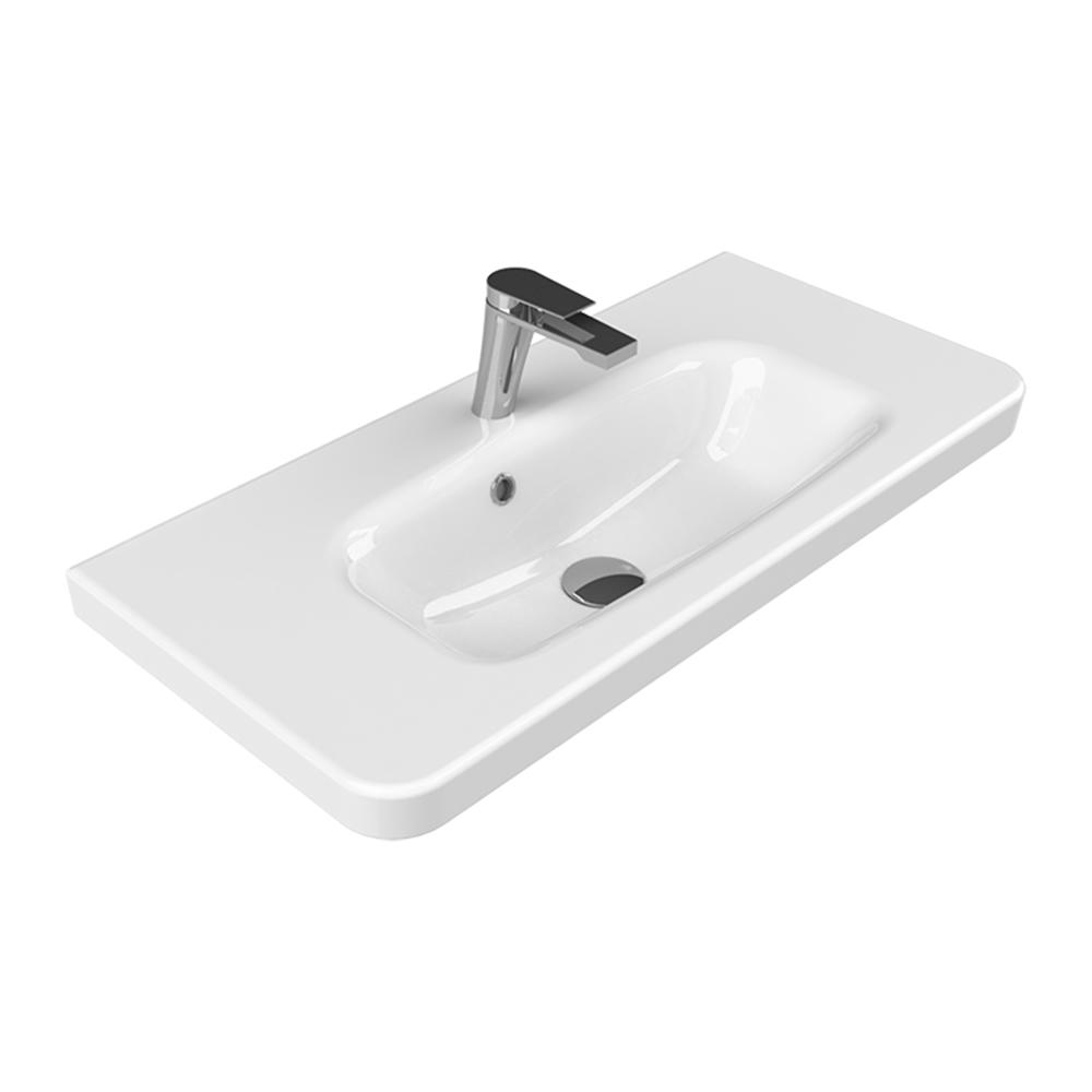 Merveilleux Nameeks Noura Plus Wall Mounted Bathroom Sink In White