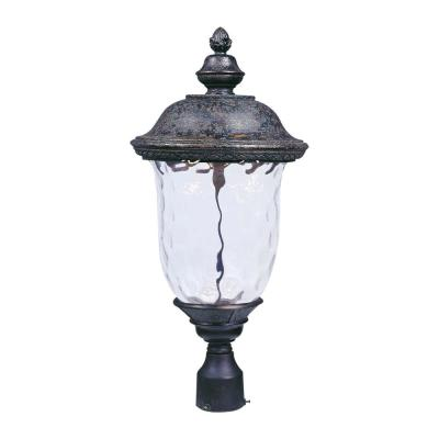 Carriage House 12.5 in. Wide 1-Light Outdoor Oriental Bronze Post Light