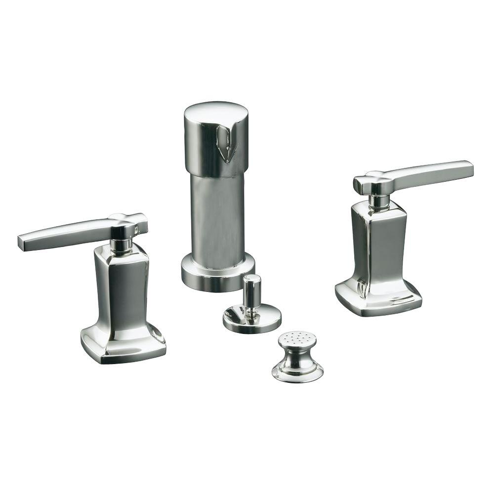 Margaux 2-Handle Bidet Faucet in Vibrant Polished Nickel