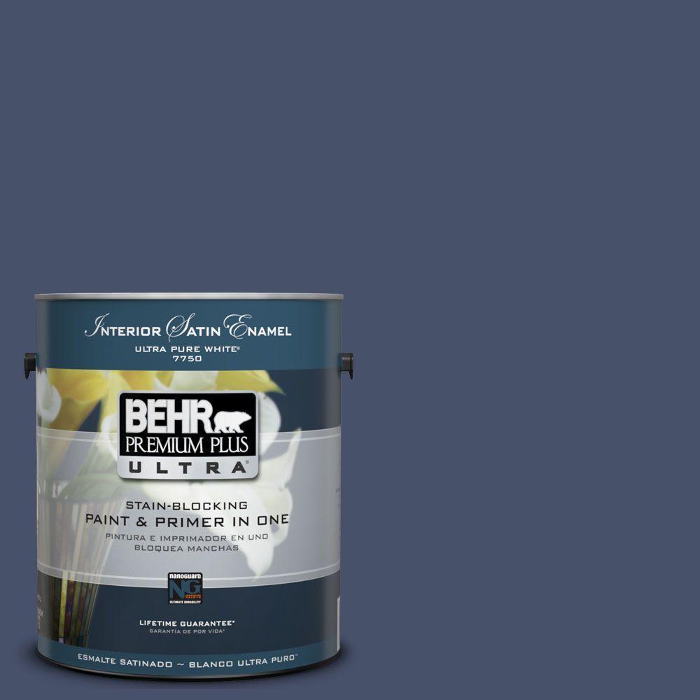 BEHR Premium Plus Ultra 1-Gal. #UL240-23 Vintage Velvet Interior Satin Enamel Paint