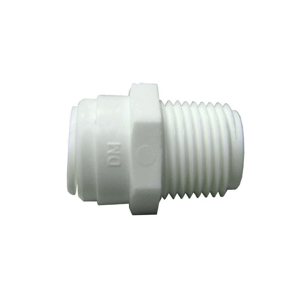 1/2 in. x 3/8 in. Plastic O.D. x MPT Connector