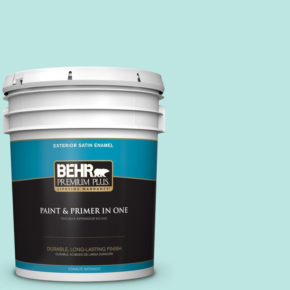 5-gal. #490A-2 Cool Jazz Satin Enamel Exterior Paint